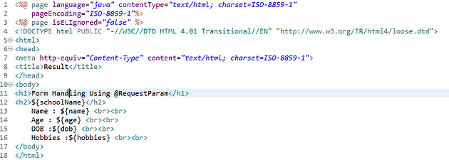Spring Mvc Handle An Html Form Using At Requestparam