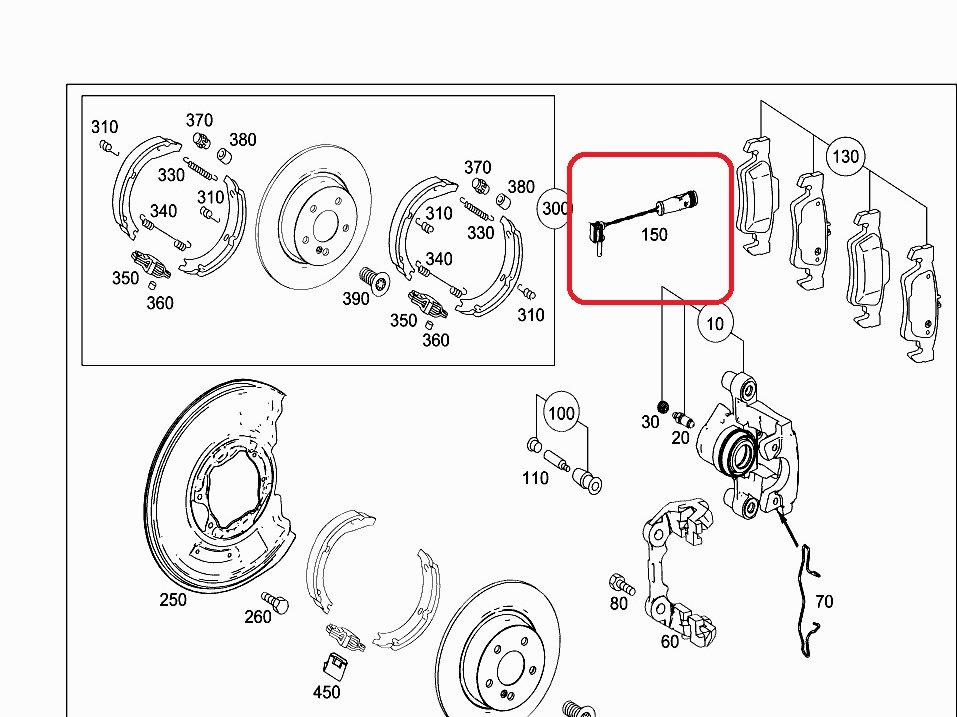 Mercedes Var mod 2002+ Brake Pad wear snsor- 220 540 07 17