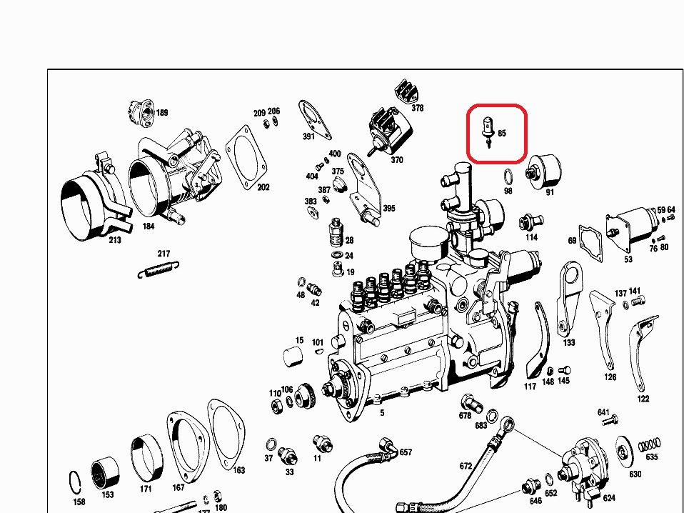 Mercedes M129, M130 & M189 Inj Pump Thermostat- 001 203 95