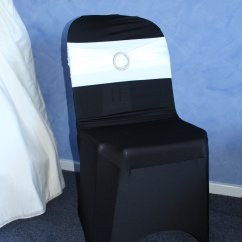 Black Chair Covers To Hire Brown Leather Club And Ottoman Cover Fitted Sash