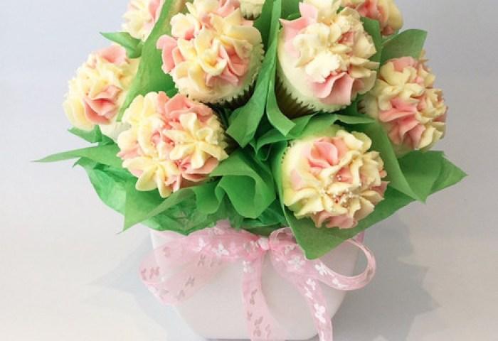 Mini Hydrangea Cupcake Bouquet 1dz