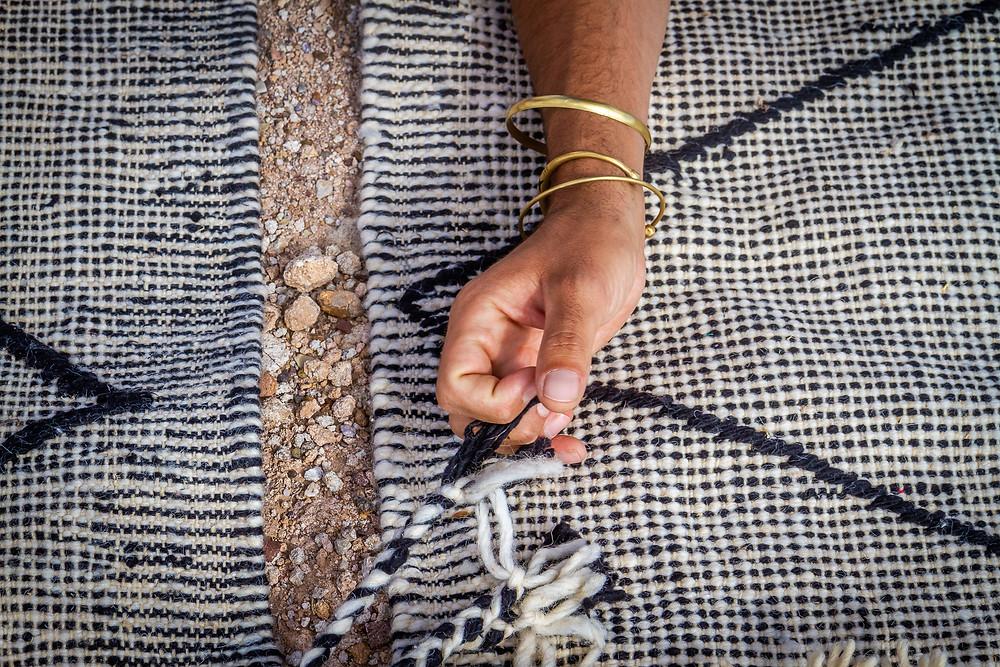 comment sont fabriques les tapis berberes