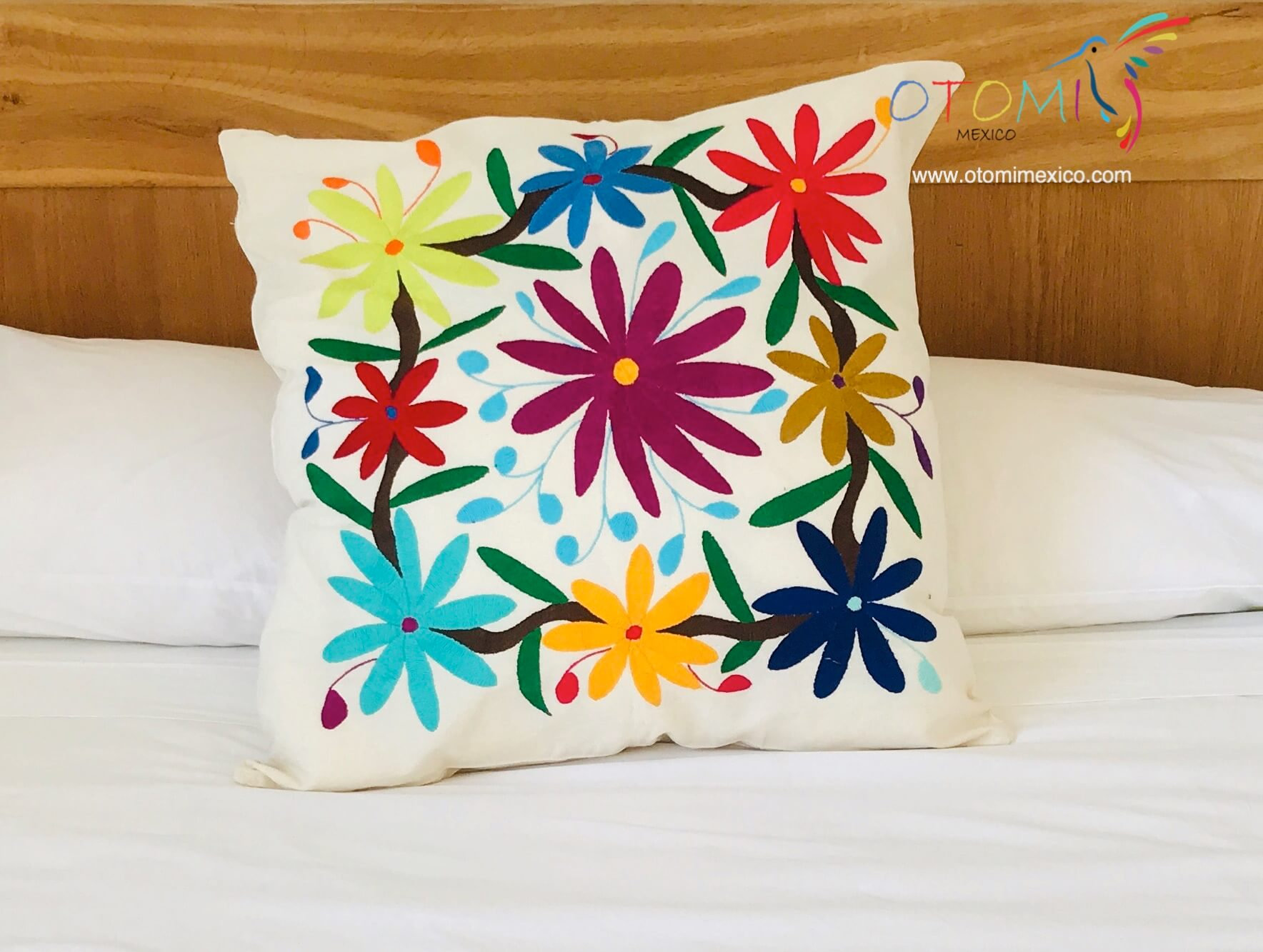 otomi pillow cover flowers