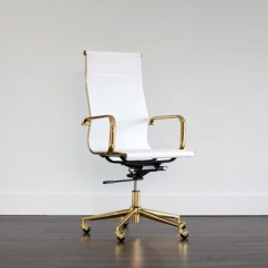 Office Chair Gold Allsteel Relate Rhyan White A Glamorous From Our Ikon Collection Designed With Modern Femininity Features High Mesh Seatback And Finished Polished