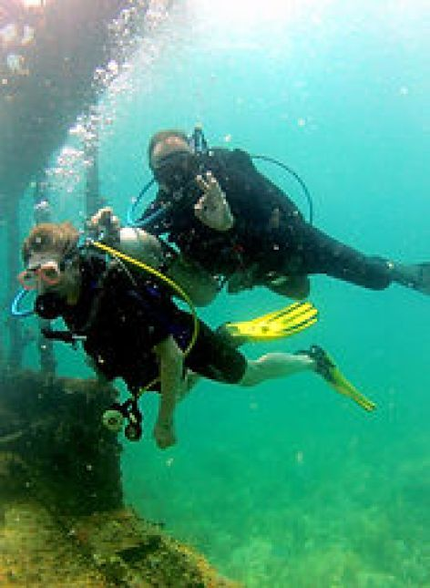 Tandem dives, try scuba diving in Las Terrenas