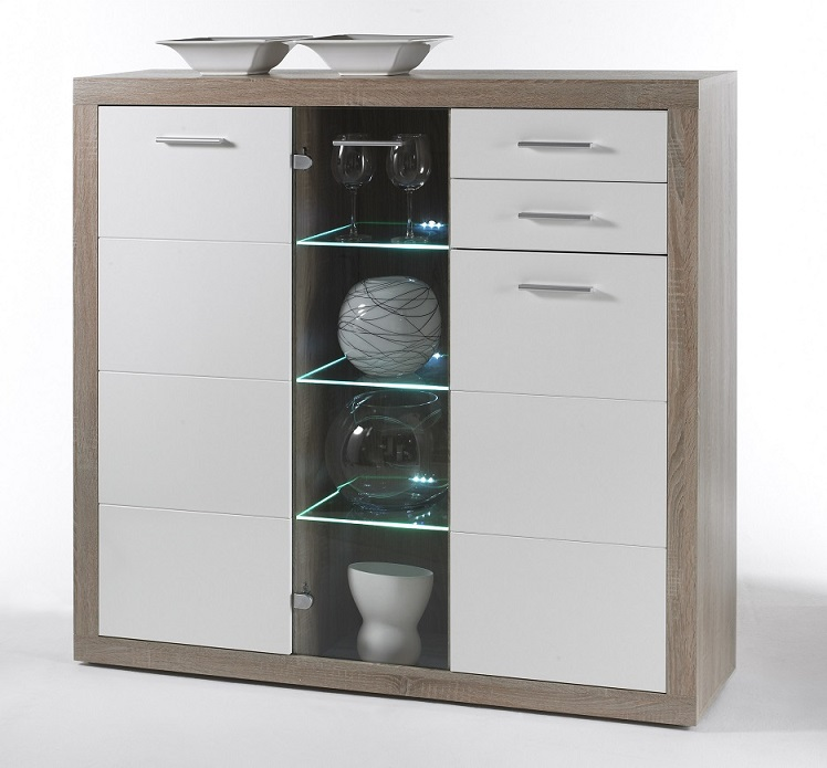 Highboard inkl Beleuchtung CAN CAN T2 von HBZ Sonoma