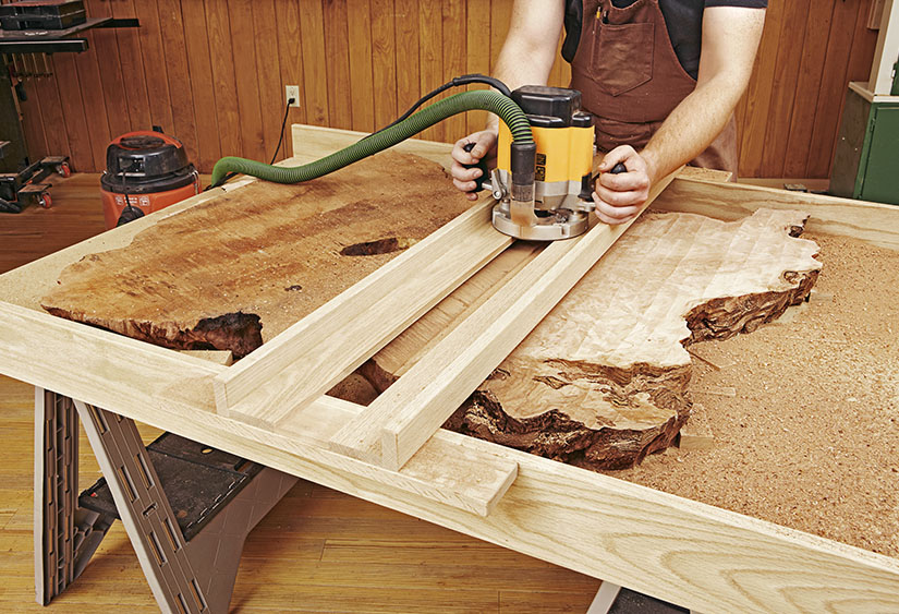 how to work with natural edge slabs
