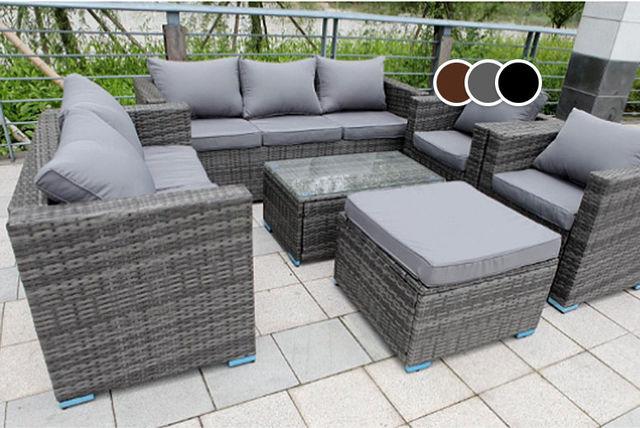 rattan sofa set uk warwick fabric australia garden furniture | shop wowcher