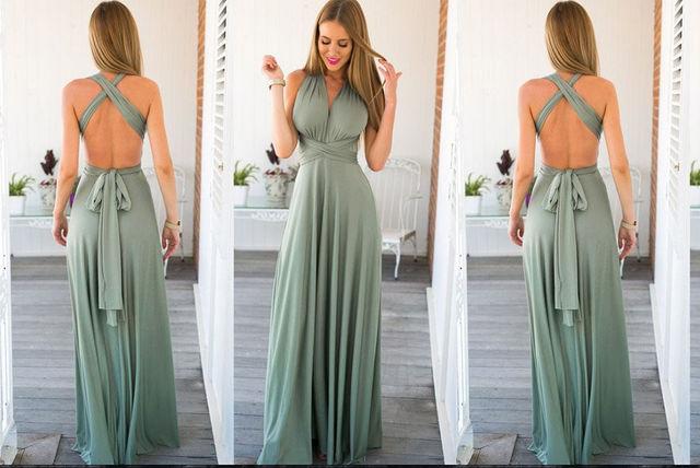 MultiWay Maxi Dress  3 Colours  Shop  Wowcher