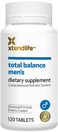Total Balance Men's - A comprehensive supplement containing 76 natural bio-active vitamins, minerals, nutrients, antioxidants & herbs for optimal health for men.