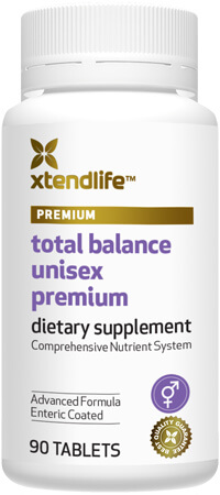 Total Balance Unisex Premium - An advanced multi-nutrient supplement containing 88 bio-active vitamins, minerals, nutrients, antioxidants and herbs to help support optimal health, immunity & wellbeing.