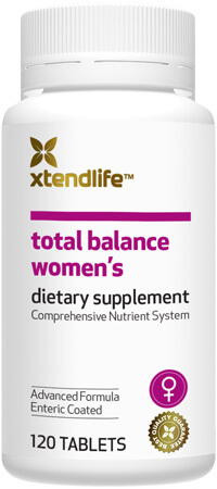 Total Balance Women's - A comprehensive supplement containing 77 natural bio-active vitamins, minerals, nutrients, antioxidants and herbs to promote optimal health for women.