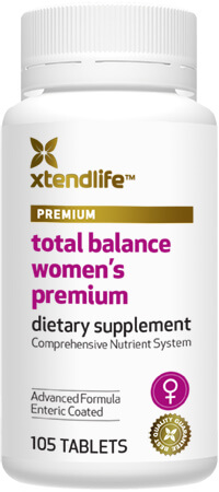 Total Balance Women's Premium - A comprehensive supplement containing 98 natural bio-active vitamins, minerals, nutrients, antioxidants & herbs to promote optimal health for women.