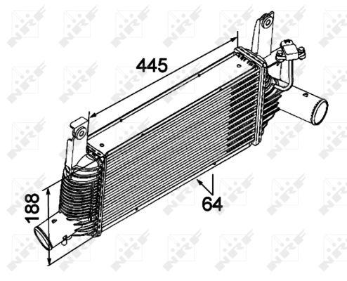 Intercooler radiateur de turbo pour NISSAN np300-navara