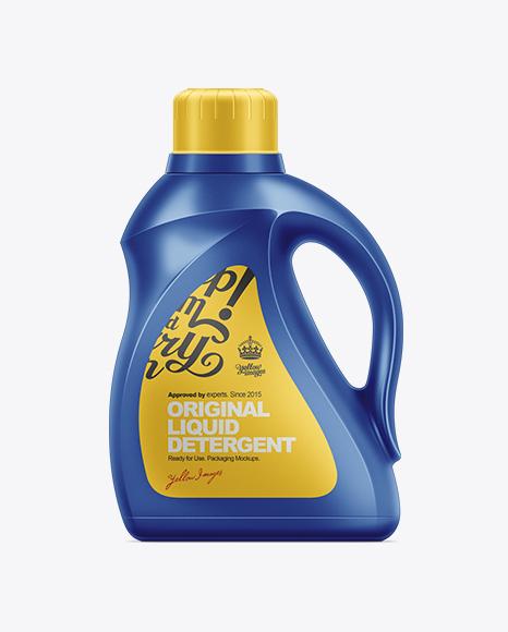 2.95L Liquid Detergent Bottle Mockup Packaging Mockups