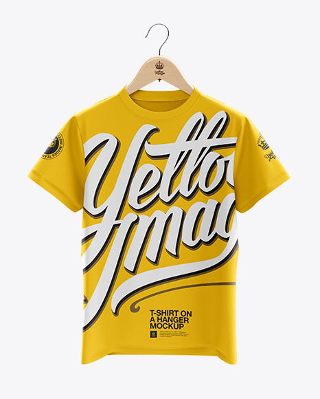 Download T Shirt Mock Up Free Download Yellow Images