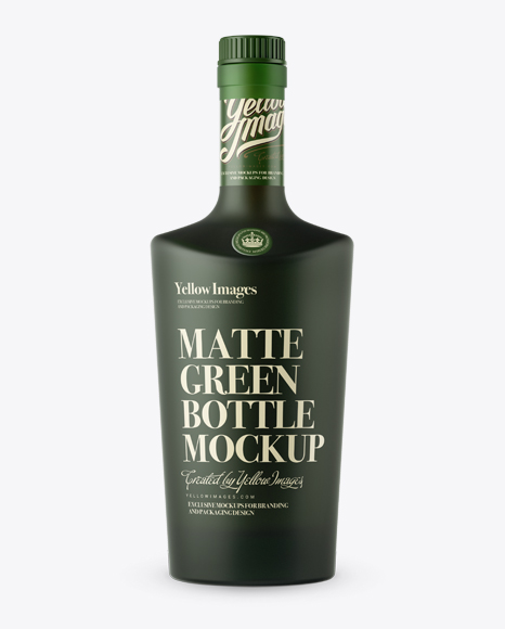 -preview-02-574d93624d456 Matte Green Bottle W/ Bung Mockup - Front View templates