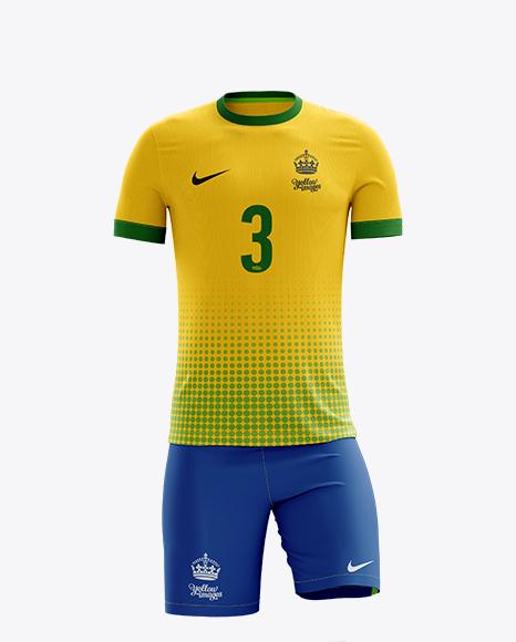 Download Men?S Full Soccer Kit Mockup - Back View : Tshirt Sport ...