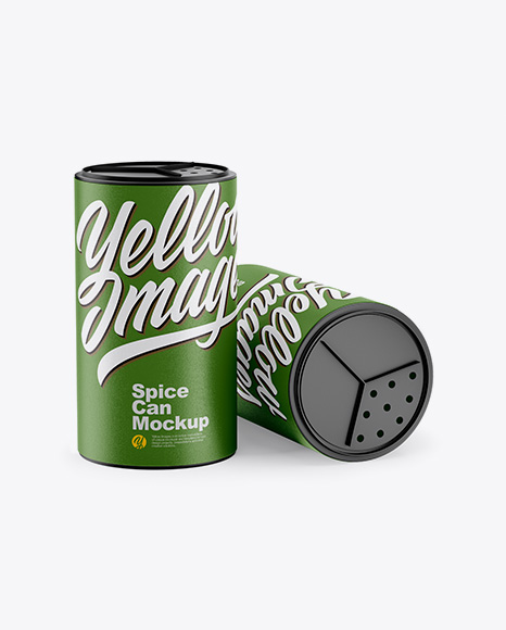 Two Textured Spice Cans Mockup