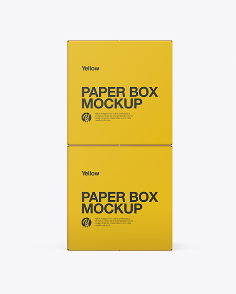 Two Paper Boxes Mockup - Front View