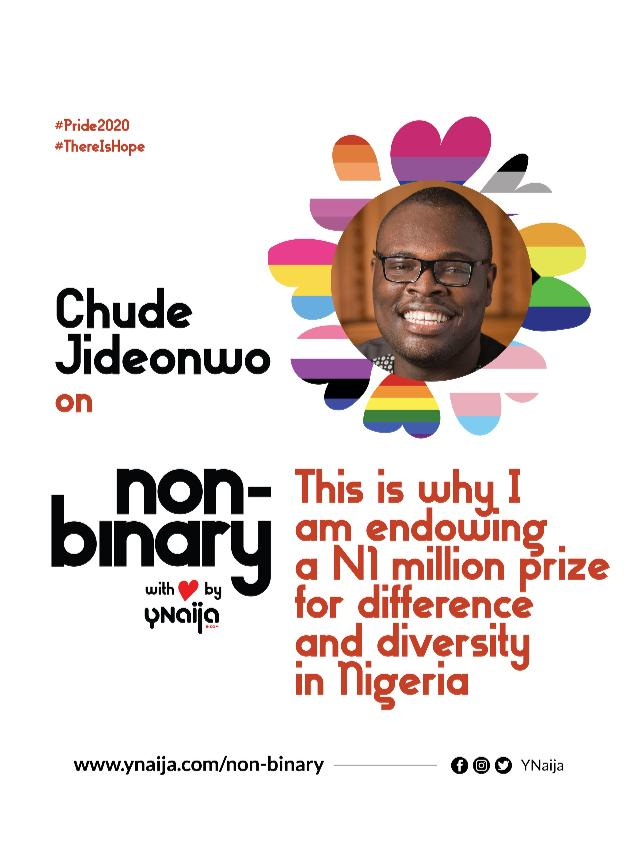 Chude Jideonwo: This is why I am endowing a N1 million prize for difference and diversity in Nigeria » YNaija