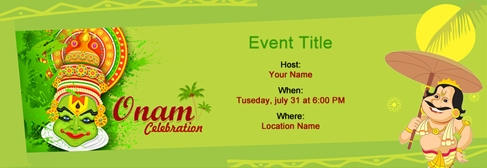 Find Por Onam Invitation Templates
