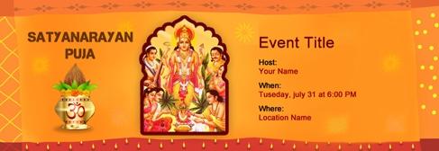 Satyanarayan Puja Invitation Card Template Free Custom