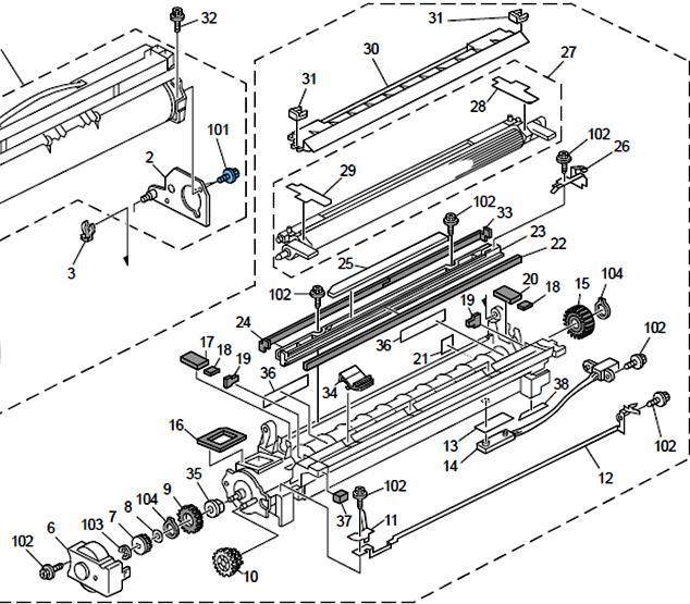 Como instalar el revelador de la fotocopiadora ricoh mp