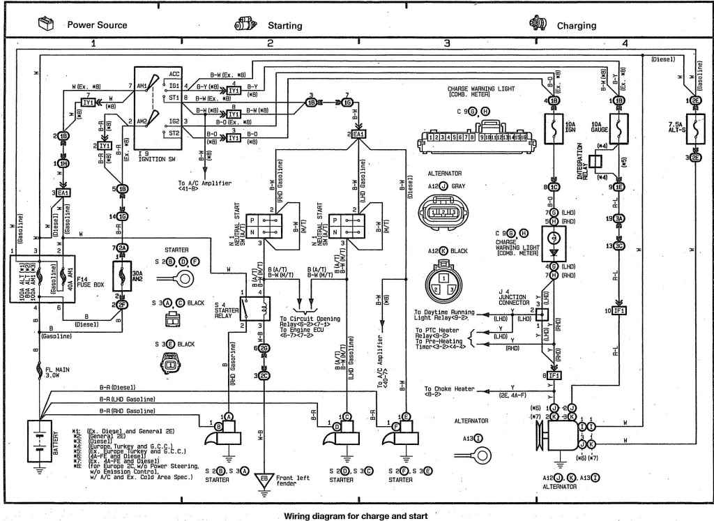 Toyota Starlet Wiring Diagram : 29 Wiring Diagram Images