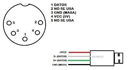 Convertir Teclado Ps2 A Usb Diagrama