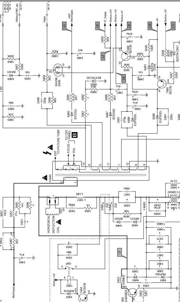 diagrama philips 21pt5425 77