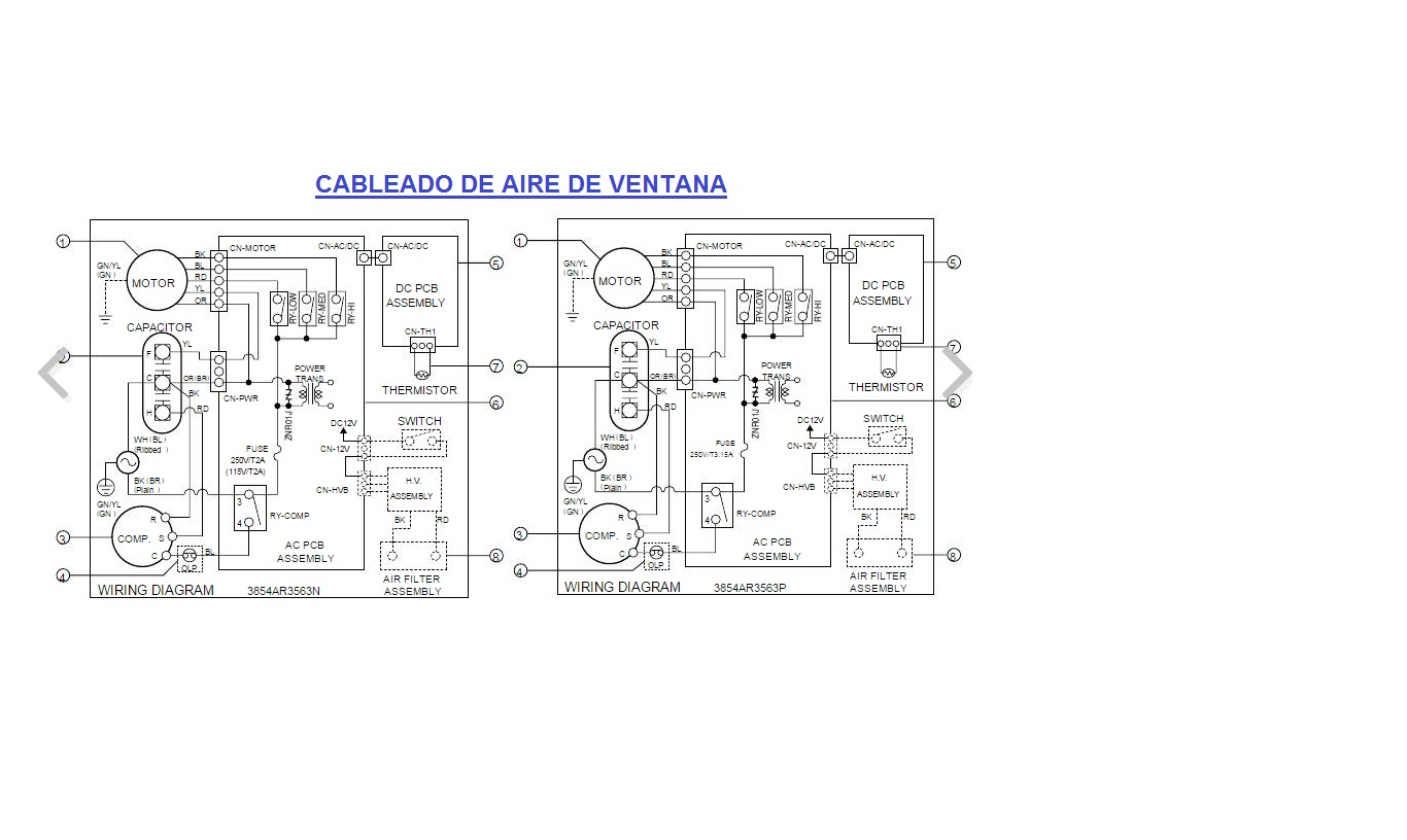 Necesito El Diagrama Electrico Aire Hitachi Mod R A