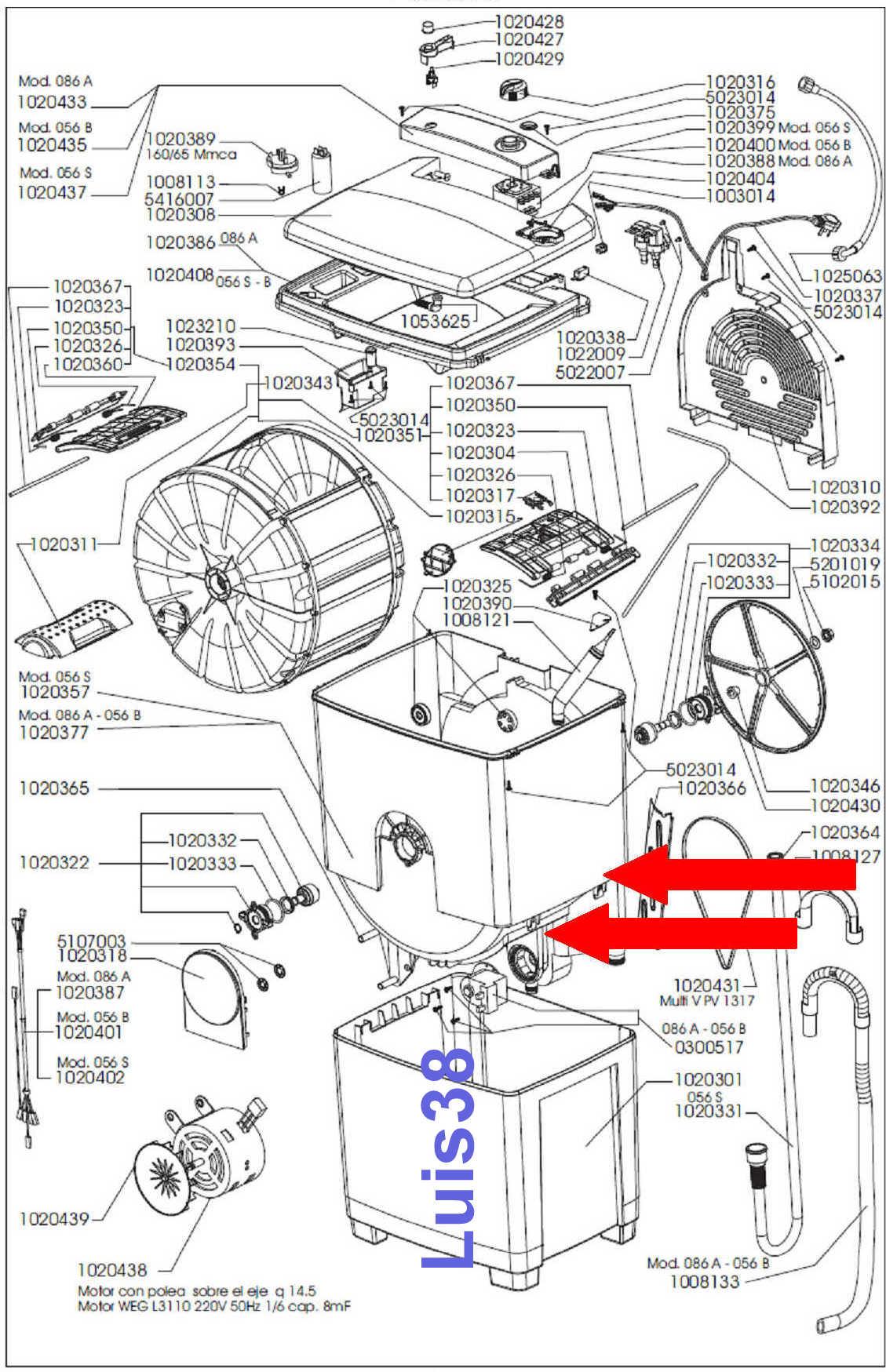 Lavarropas Candy Carga Superior Manual Model