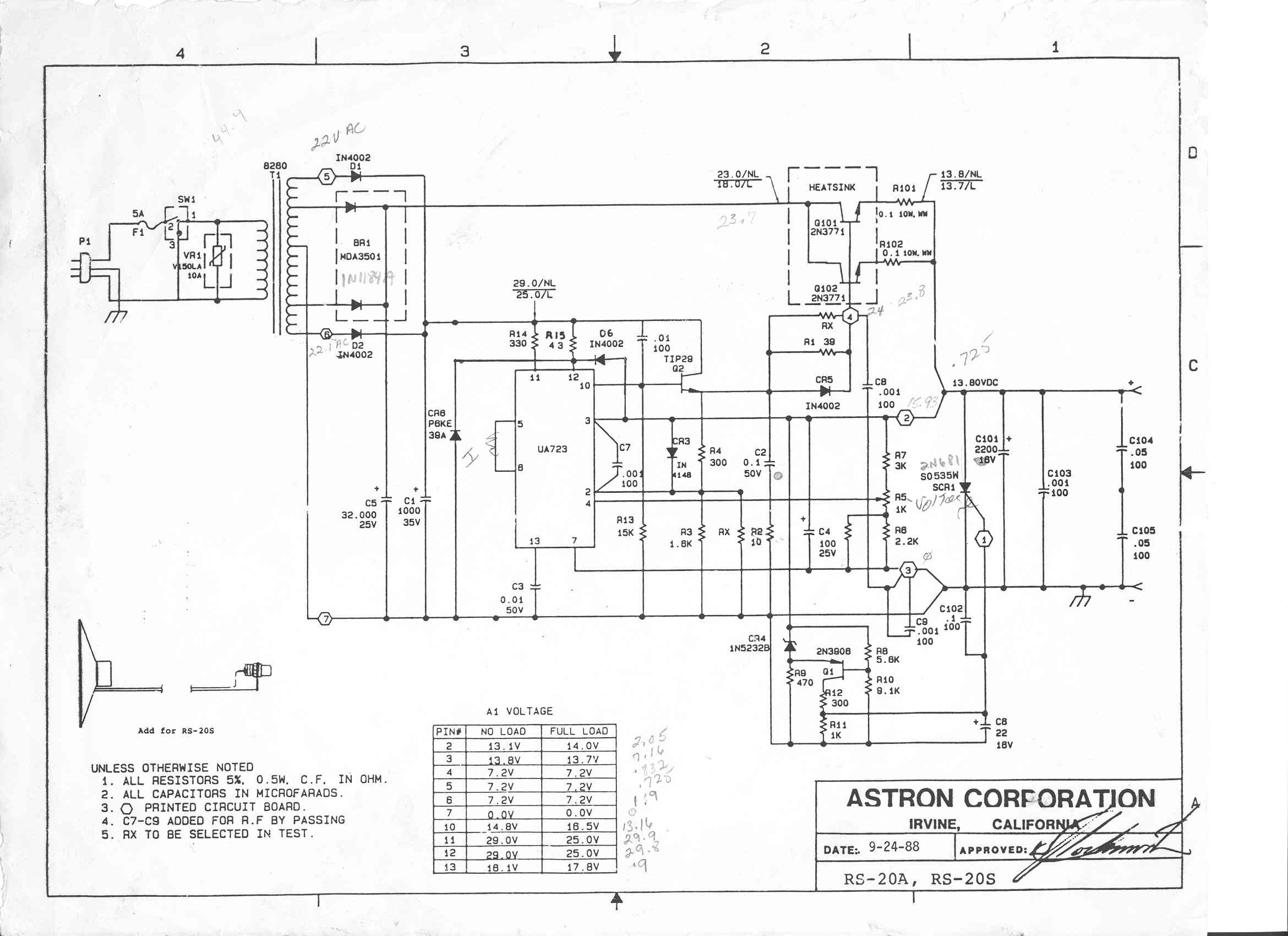 Astron 12 Amp Power Supply Schematic Delta Power Supply