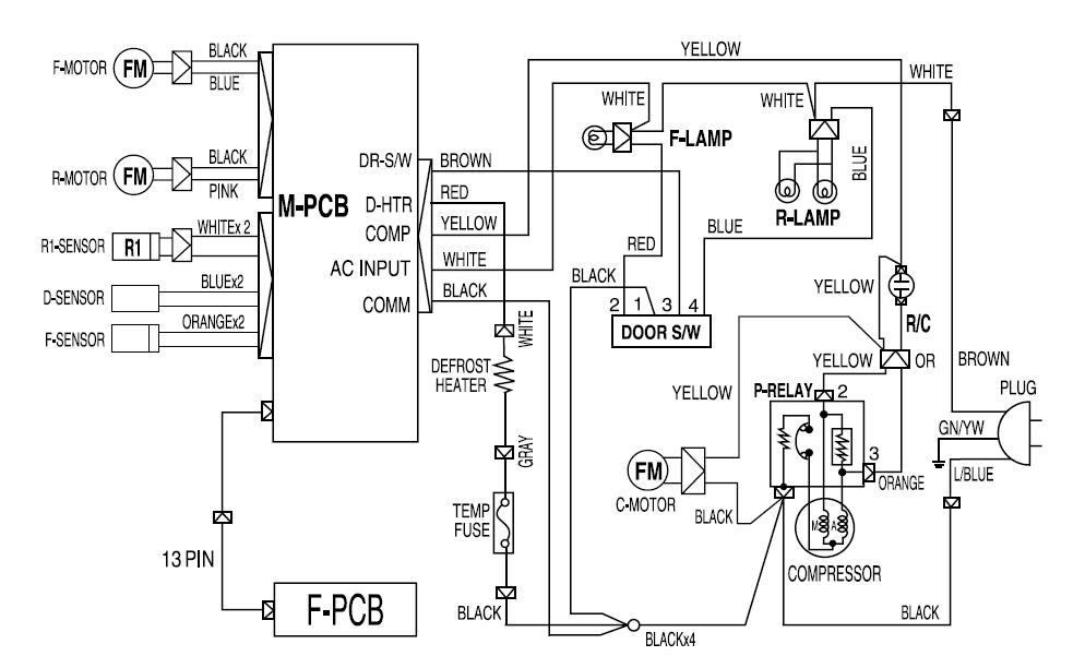 Sistema Electrico De Nevera General Electric Diagrama