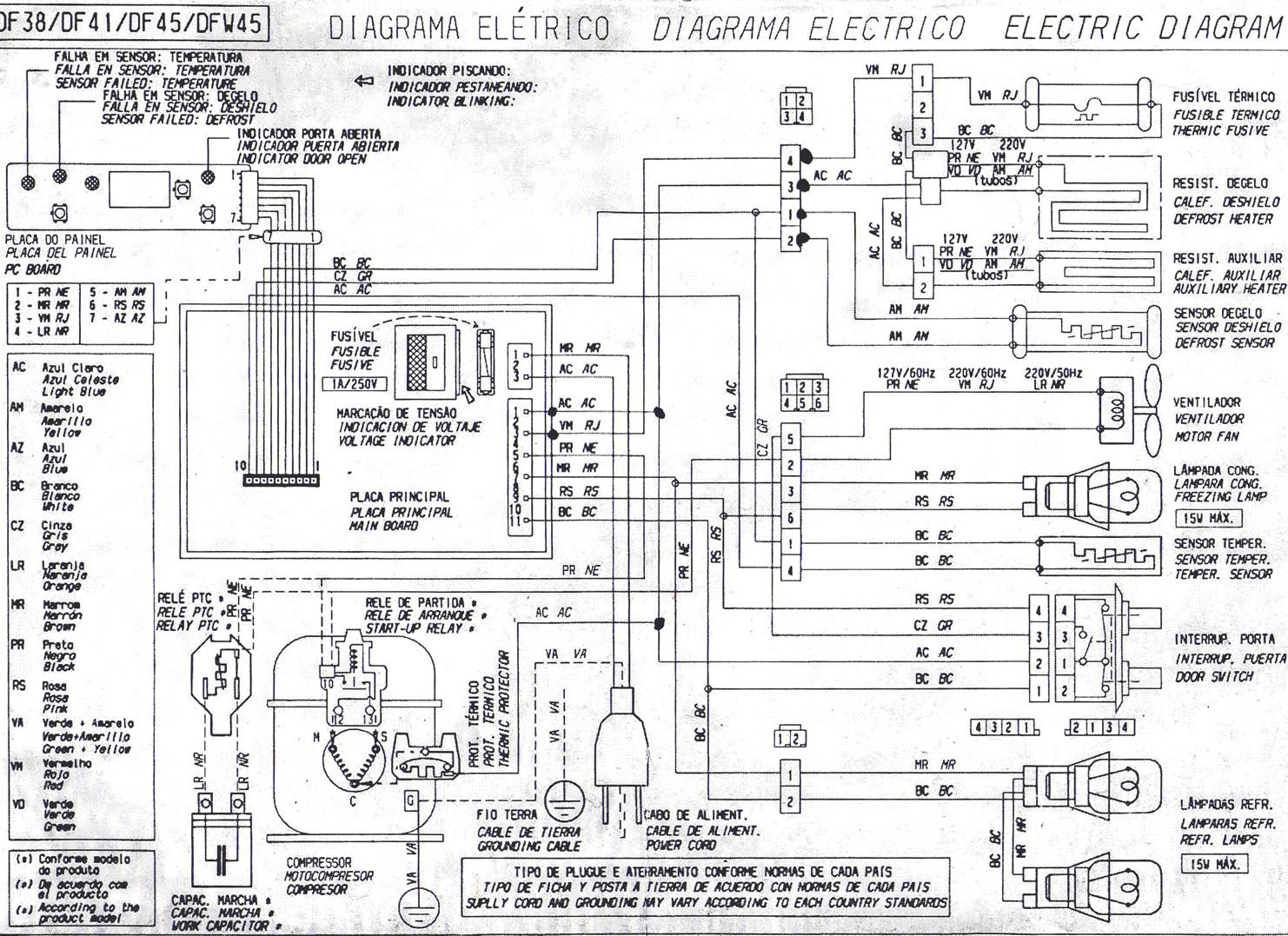 Solucionado: diagrama electrico heladera elecrolux DFW 45