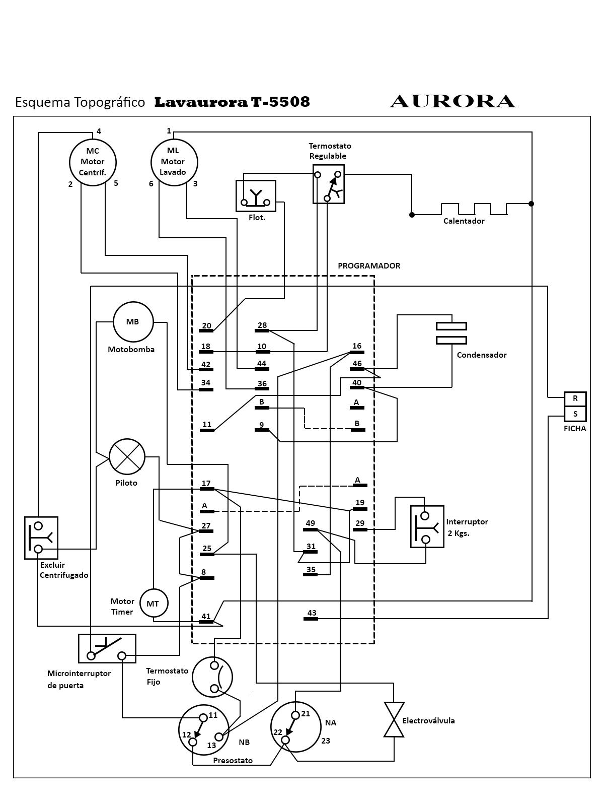 Marque Diagrama De Cableado De Lavadora