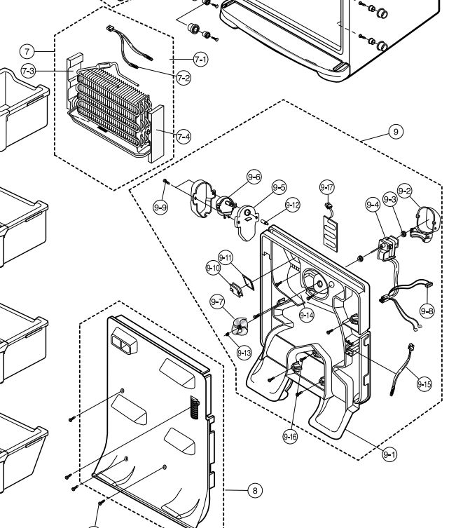 Samsung Refrigerator Fan Replacement Diagram