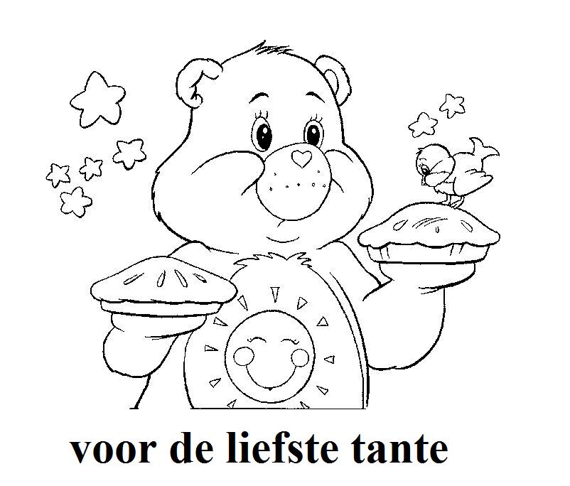 kleurplaat jarige tante kidkleurplaat nl
