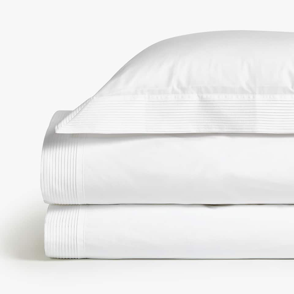 Zara home DUVET COVER WITH PLEATED TRIM