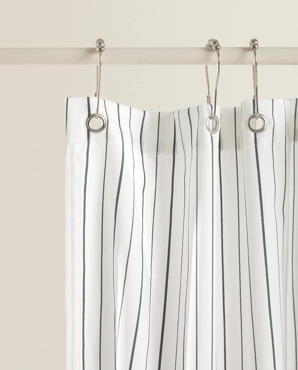 طلب استحق مسحة zara home shower curtain