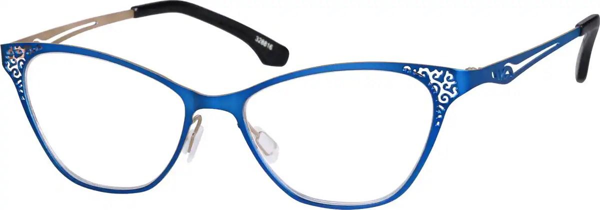 Blue Cat Eye Glasses 3288 Zenni Optical Eyeglasses