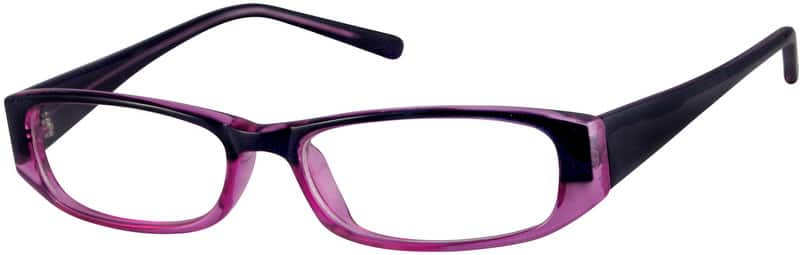 Purple Plastic Full Rim Anti Reflective Coating Optical
