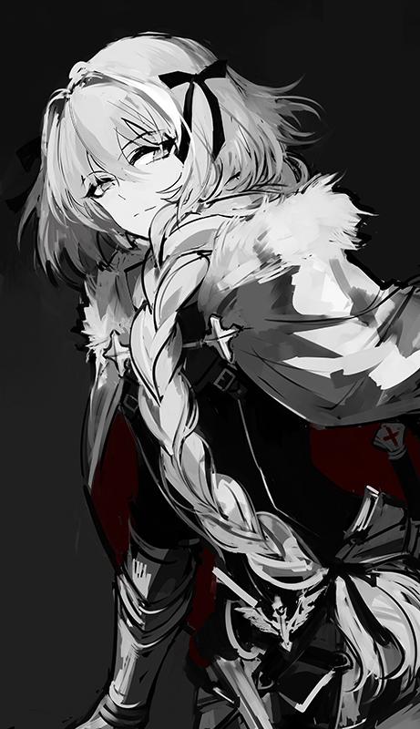 Wallpaper Sad Animated Girl Black Rider Fate Apocrypha Zerochan Anime Image Board