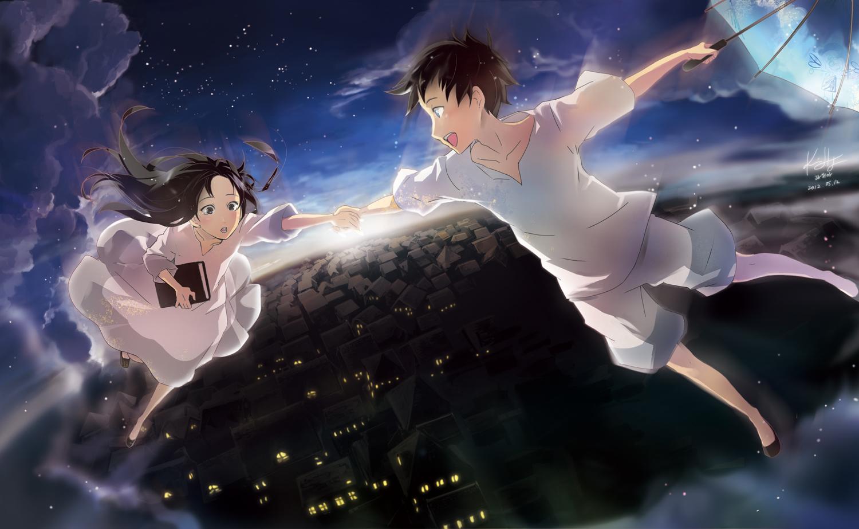 Girl Falling Through The Air Wallpaper Blind Astronaut Vocaloid Zerochan Anime Image Board