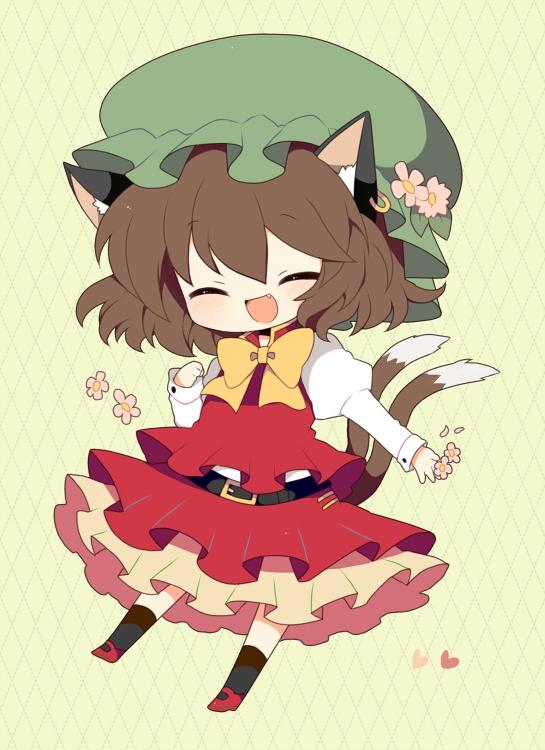 Cherry Blossom Wallpaper Hd Chen Touhou Zerochan Anime Image Board