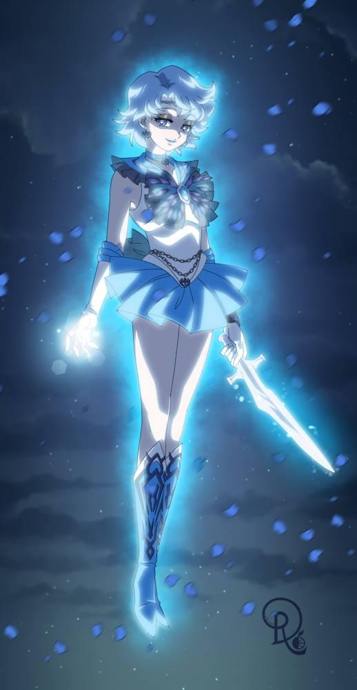Pretty Anime Wallpaper Dark Mercury Sailor Mercury Zerochan Anime Image Board