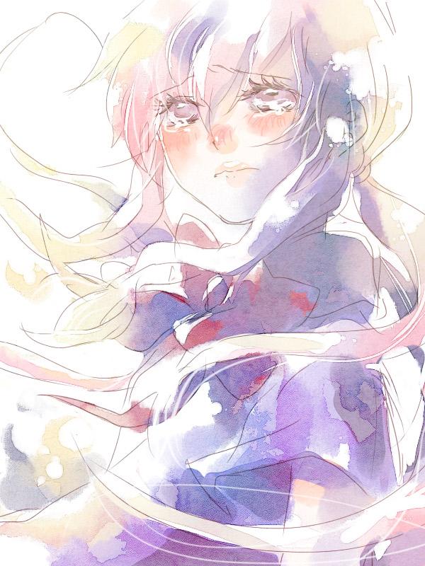 Cute Sad Crying Girl Wallpaper Gasai Yuno Mirai Nikki Image 882344 Zerochan Anime