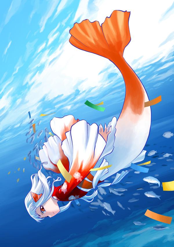 Girl Goldfish Wallpaper Hirai Yukio Mobile Wallpaper 53962 Zerochan Anime Image