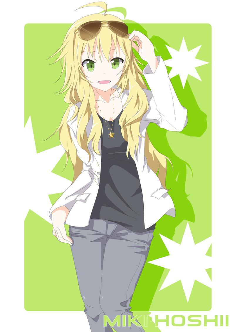 Anime Girl Wallpaper Waving Hoshii Miki The Idolm Ster Zerochan Anime Image Board